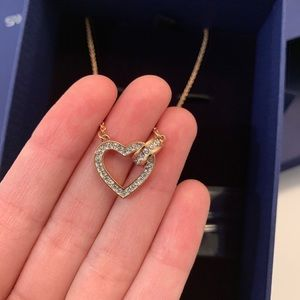 Swarovski rose gold heart shaped necklace